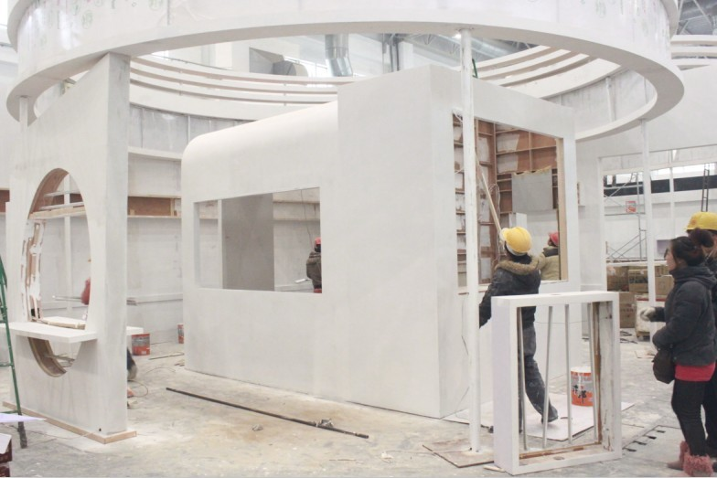 众禾安防展展台展厅设计 展览展示设计 灯光音响租赁 展台搭建 展馆