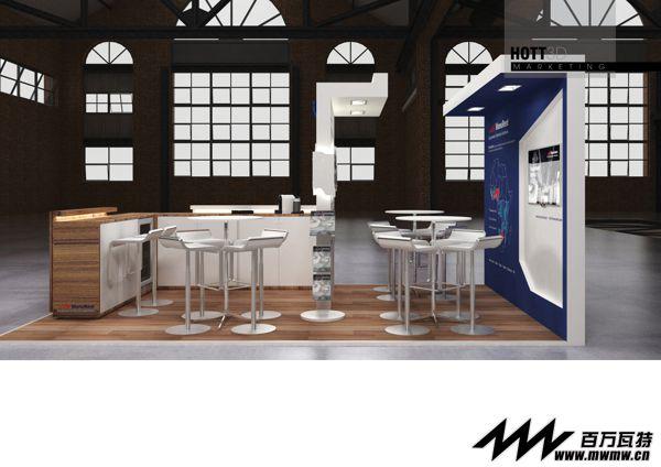 国外36平米展台设计 国外展台设计效果图与现场照片对比