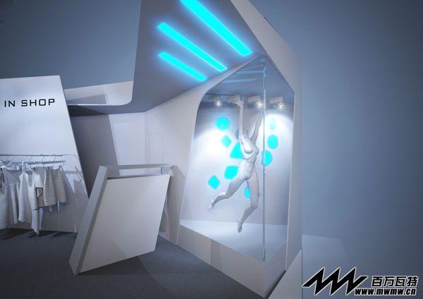 之服装展台展台展厅设计 展览展示设计 灯光音响租赁 展台搭建 展馆
